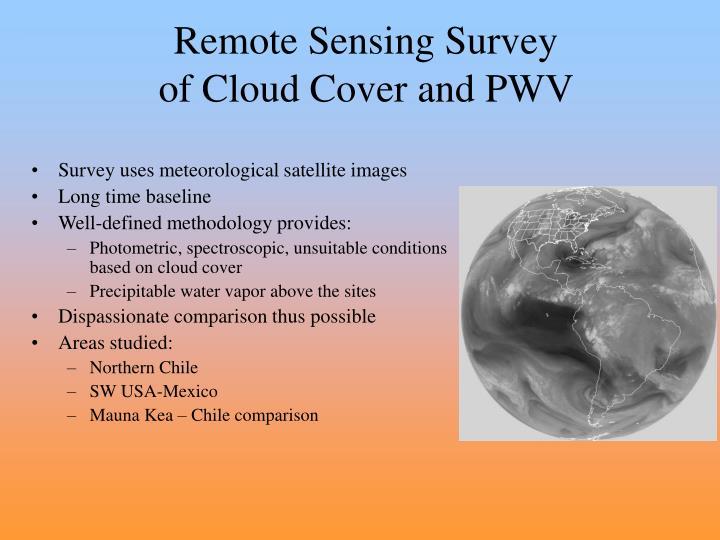 Remote Sensing Survey