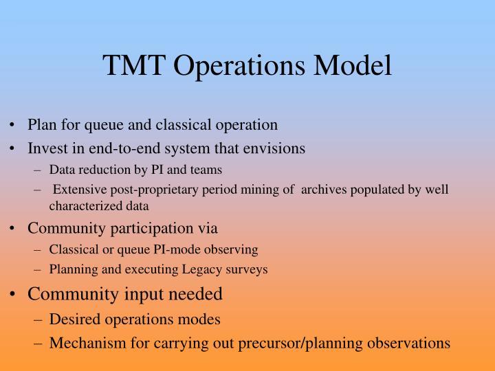 TMT Operations Model
