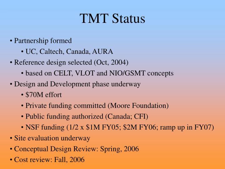 TMT Status