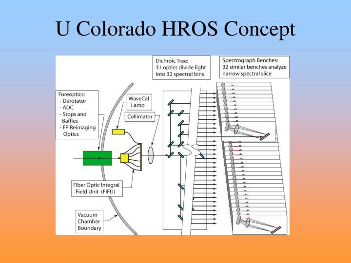 U Colorado HROS Concept