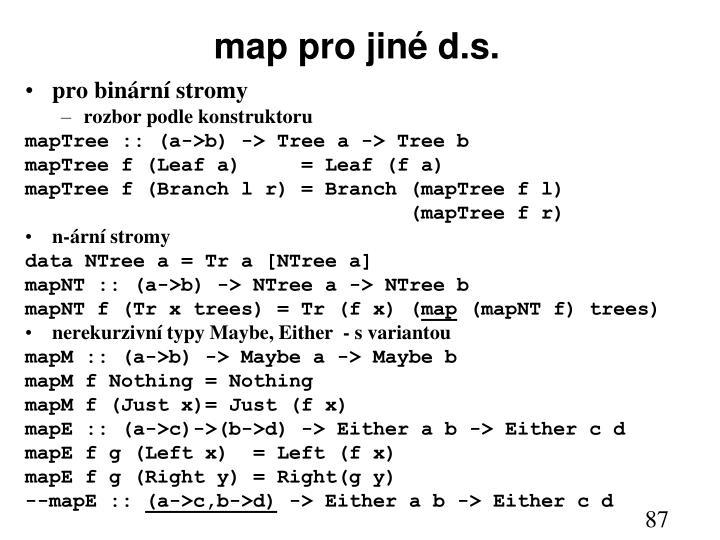 map pro jiné d.s.