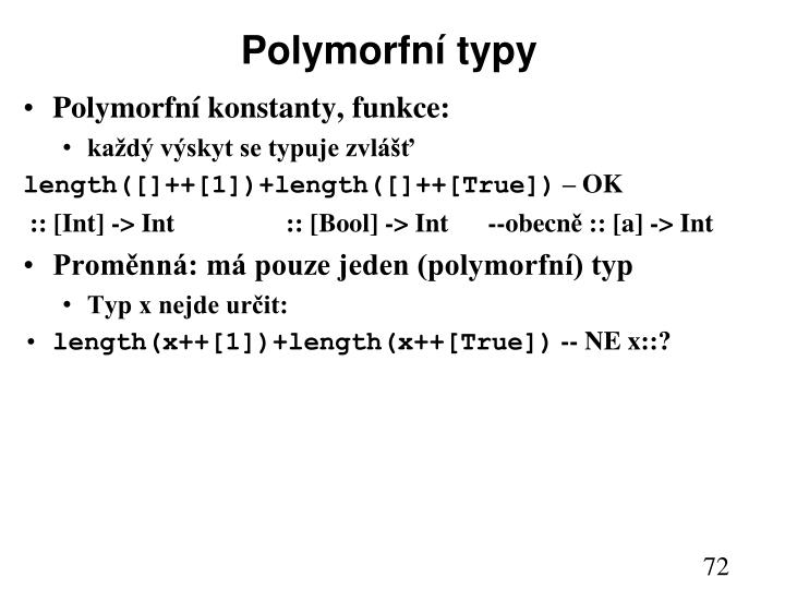 Polymorfní typy