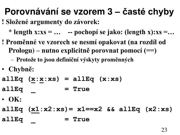 Porovnávání se vzorem 3