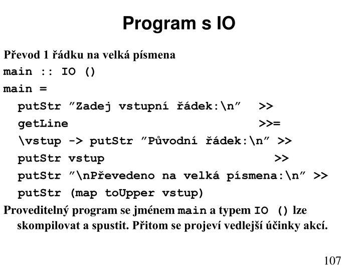 Program s IO