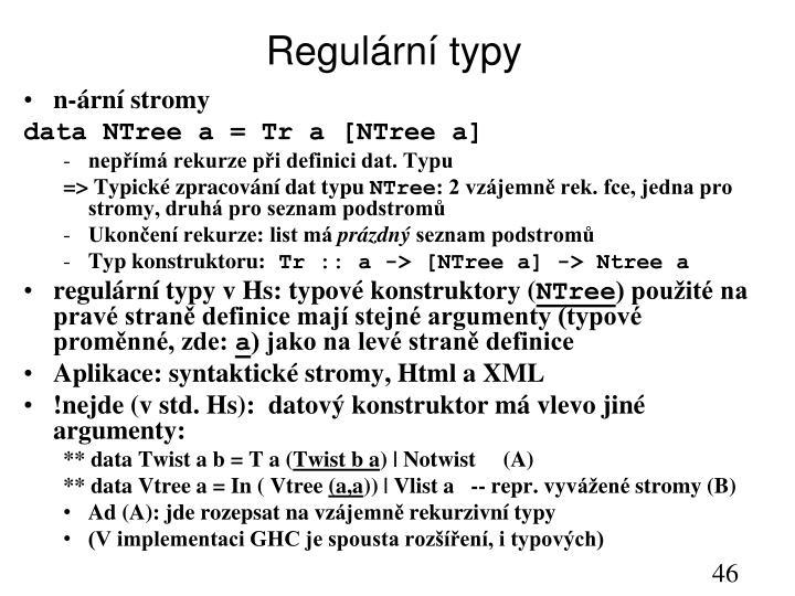 Regulární typy