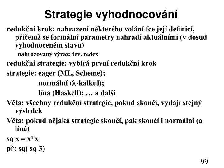 Strategie vyhodnocování
