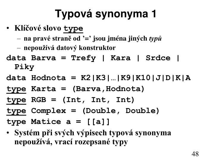 Typová synonyma 1