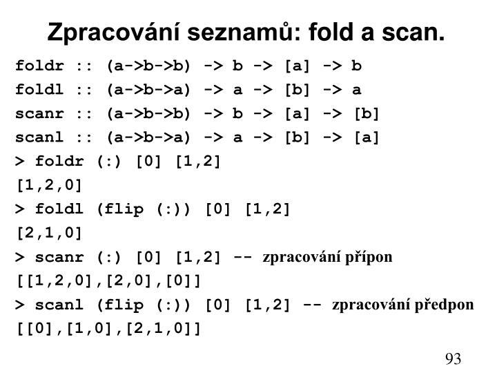 Zpracování seznamů: f