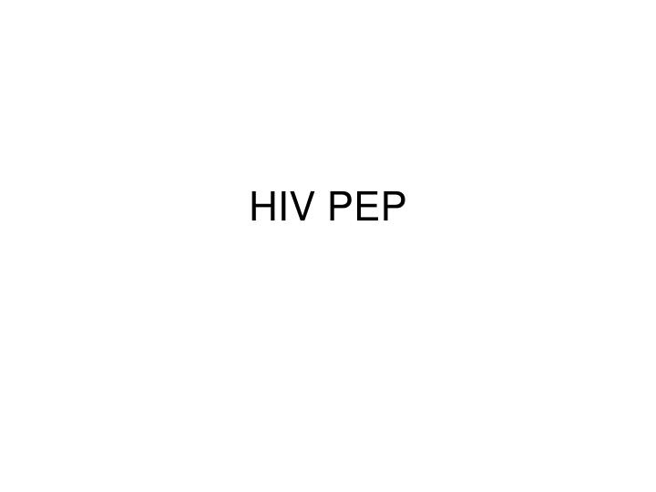 HIV PEP