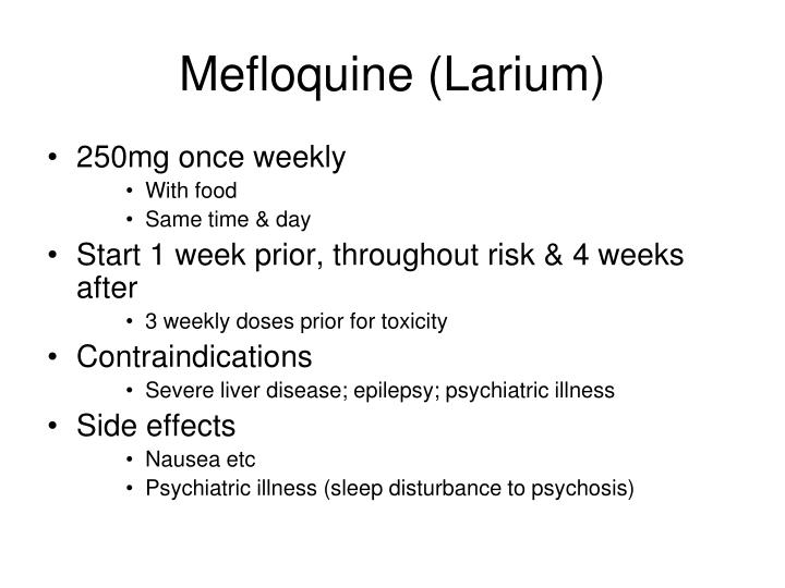 Mefloquine (Larium)