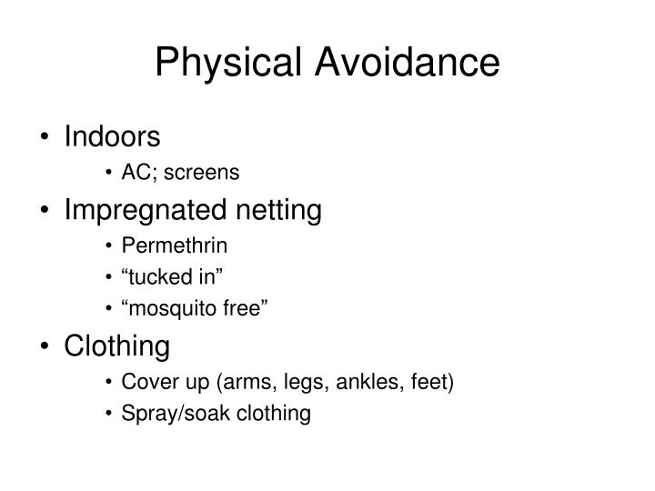 Physical Avoidance