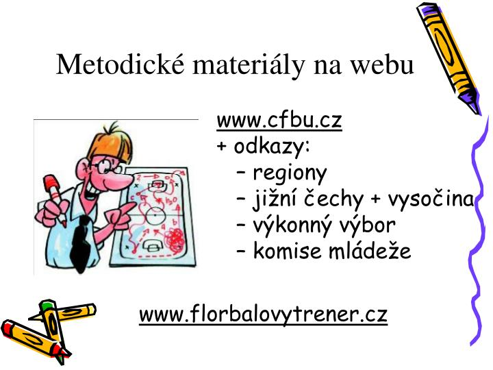 Metodické materiály na webu