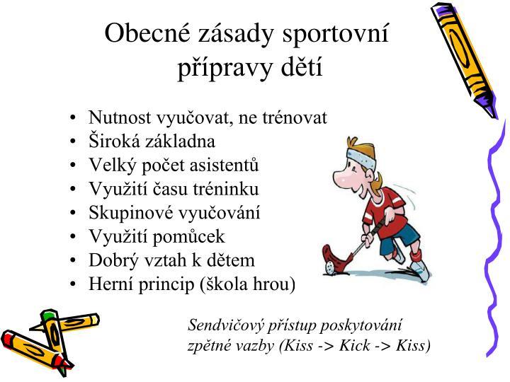 Obecné zásady sportovní