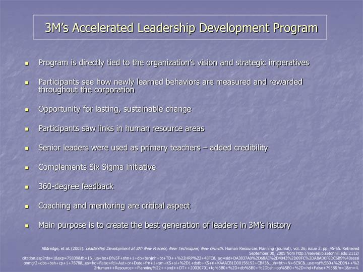 3M's Accelerated Leadership Development Program