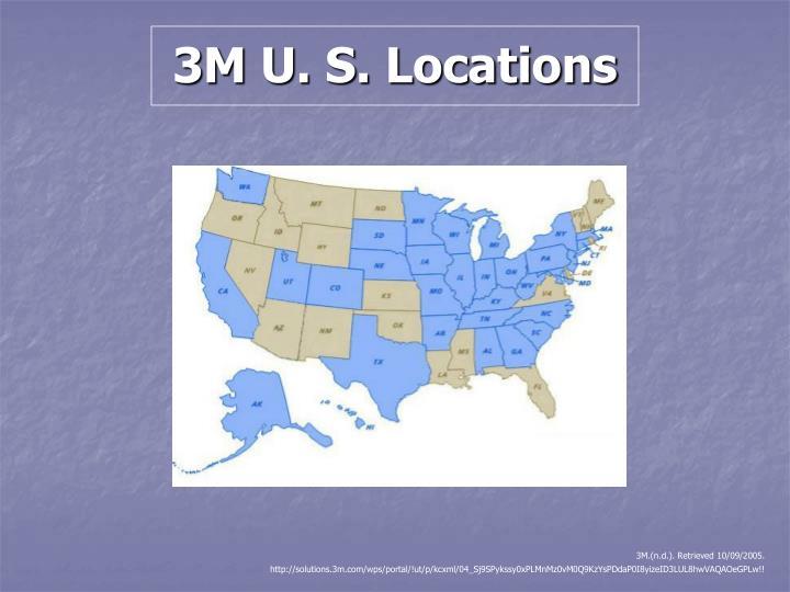 3M U. S. Locations