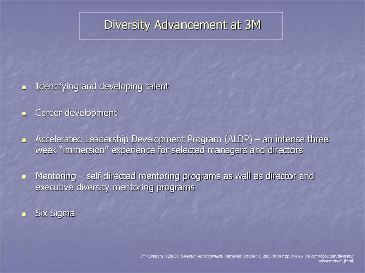 Diversity Advancement at 3M