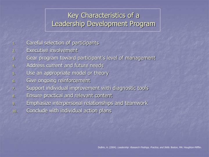 Key Characteristics of a