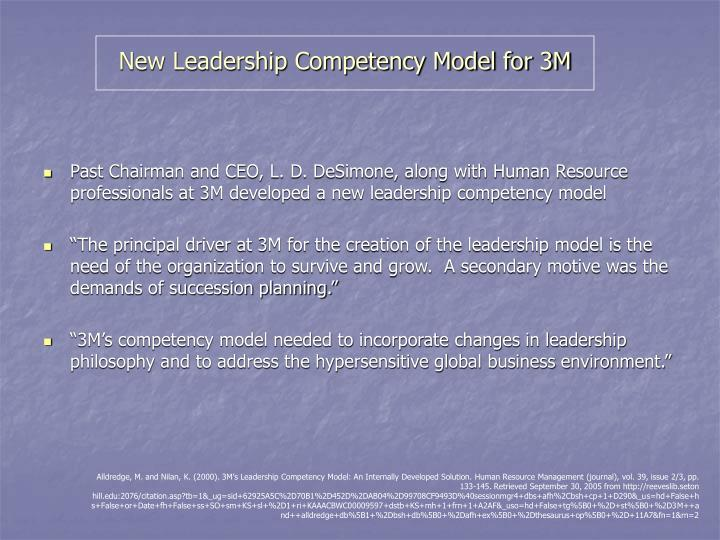New Leadership Competency Model for 3M