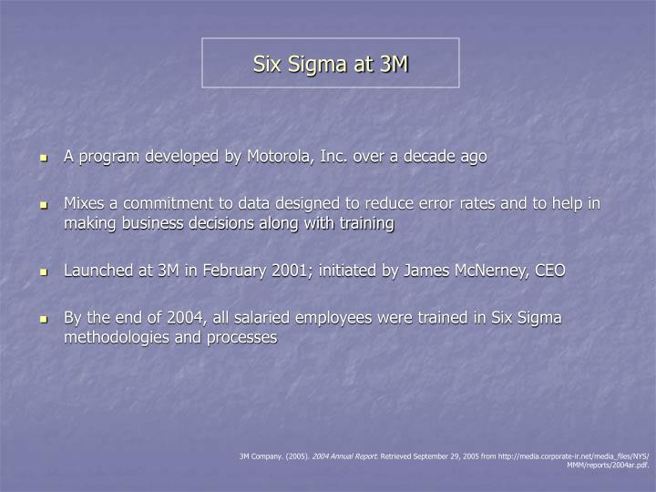 Six Sigma at 3M