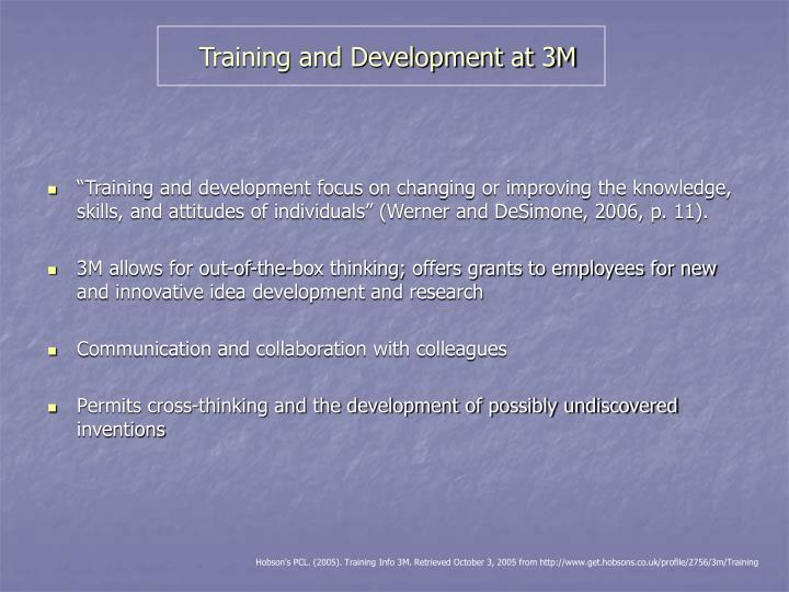 Training and Development at 3M