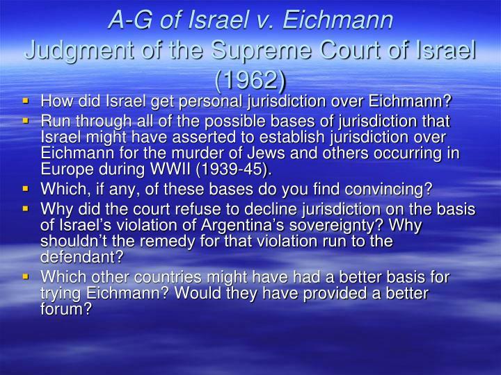 A-G of Israel v. Eichmann