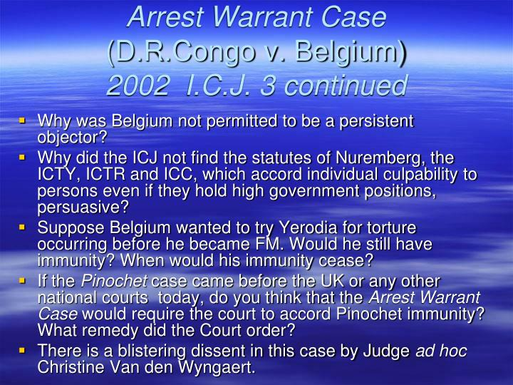 Arrest Warrant Case