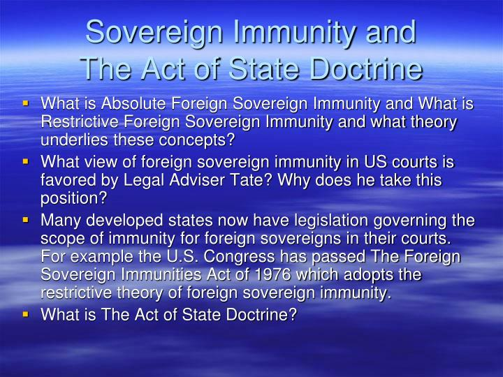 Sovereign Immunity and