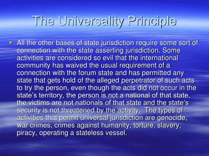 The Universality Principle