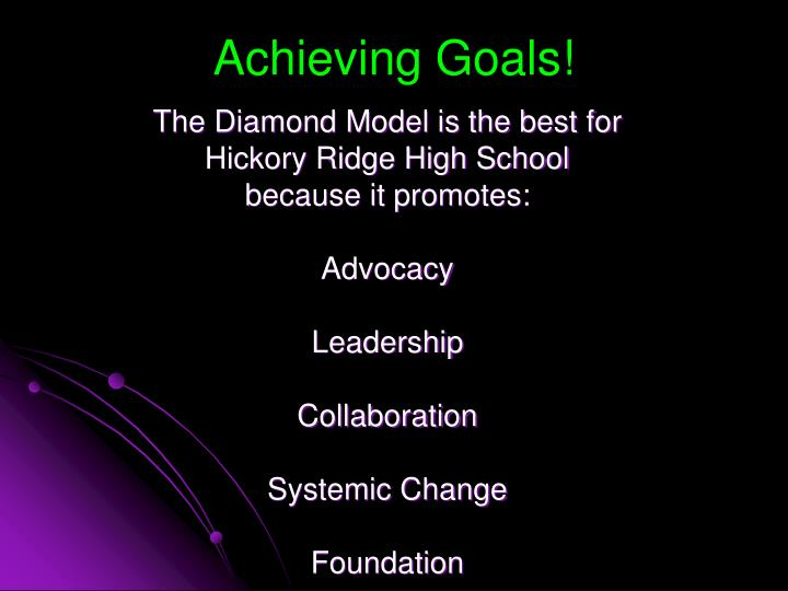 Achieving Goals!