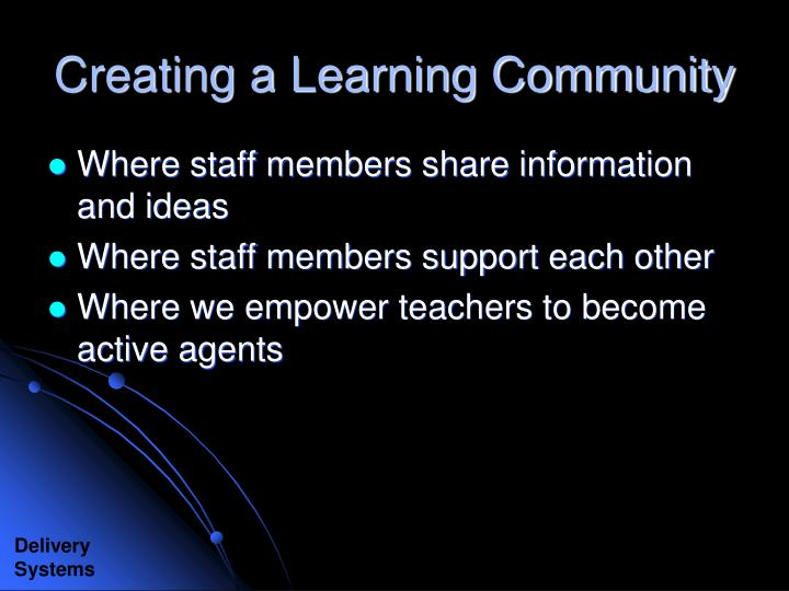 Creating a Learning Community