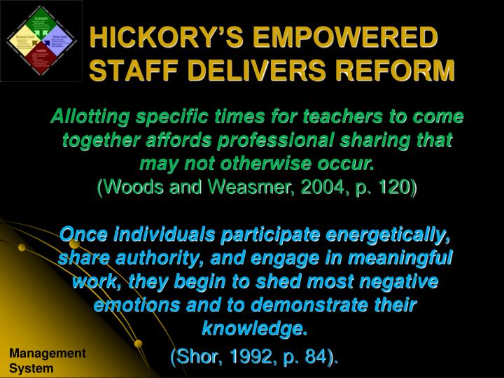 Allotting specific times for teachers to come together affords professional sharing that may not otherwise occur.