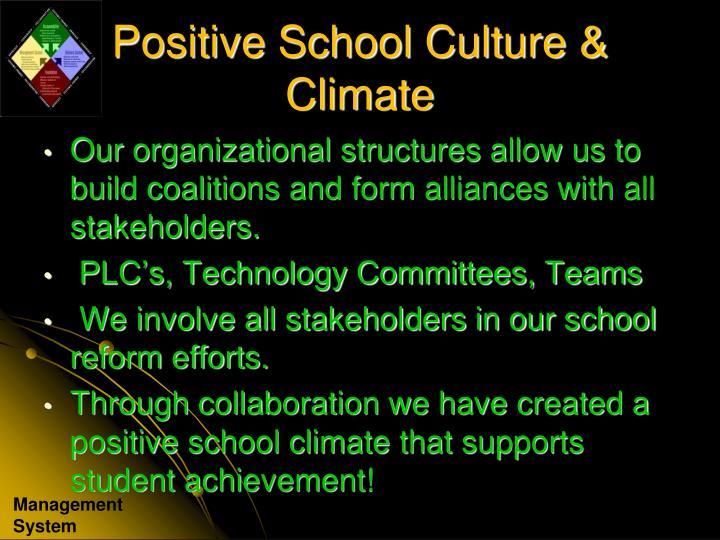 Positive School Culture & Climate
