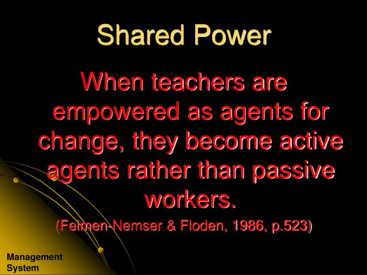Shared Power