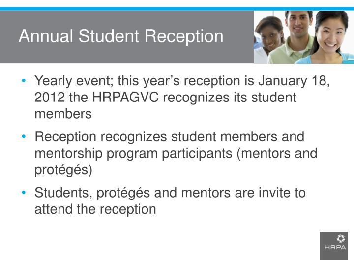 Annual Student Reception