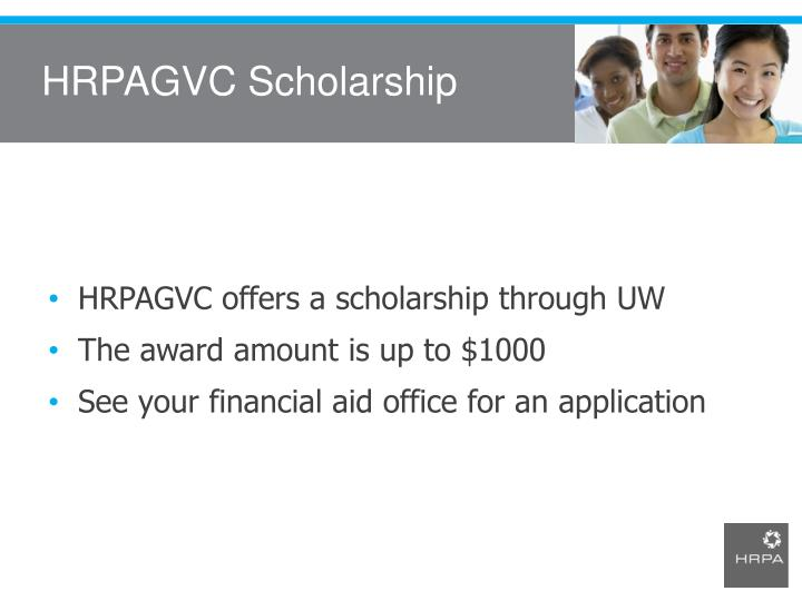 HRPAGVC Scholarship