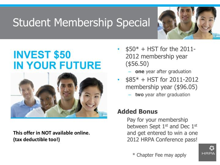 Student Membership Special