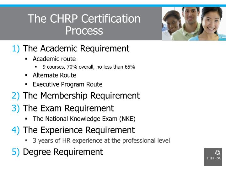 The CHRP Certification Process