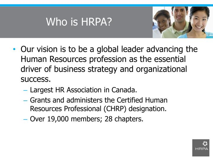 Who is HRPA?