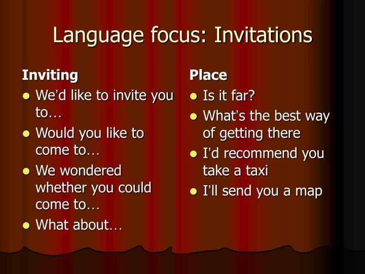 Inviting