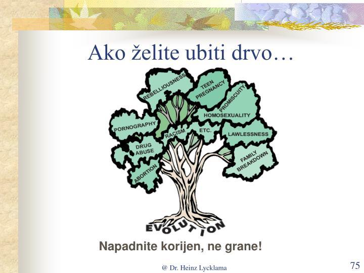 Ako želite ubiti drvo