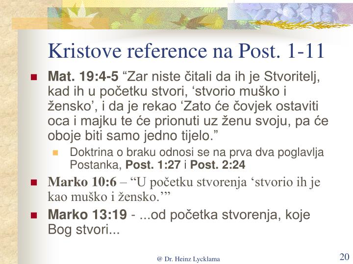 Kristove reference na Post