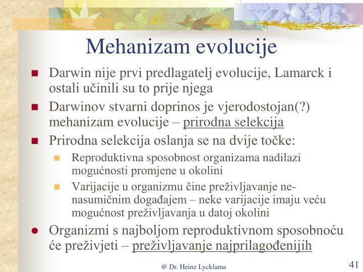 Mehanizam evolucije