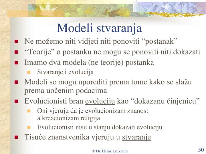 Modeli stvaranja