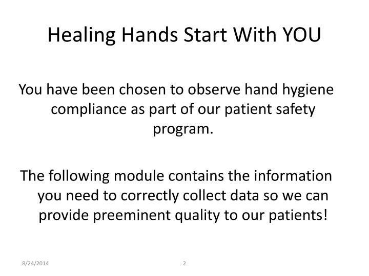 Healing Hands Start With YOU