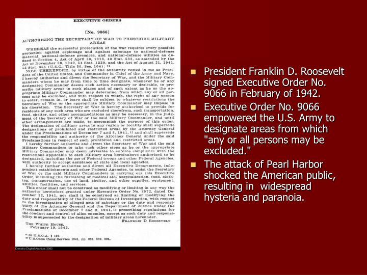 Executive order 9066 essay