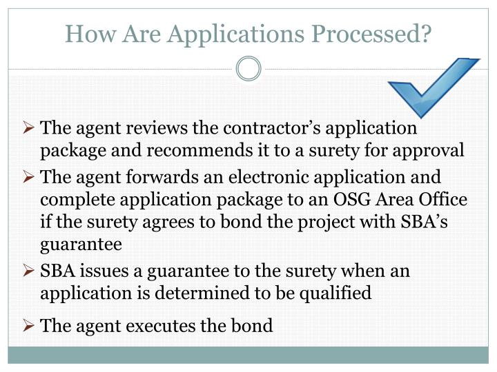 How Are Applications Processed?
