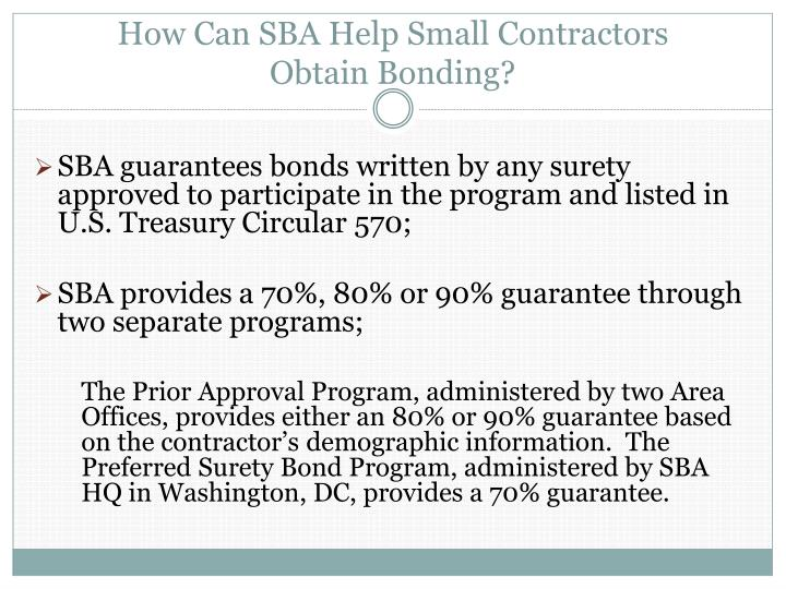 How Can SBA Help Small Contractors