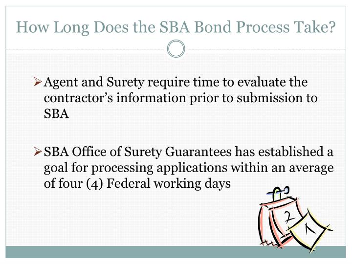 How Long Does the SBA Bond Process Take?