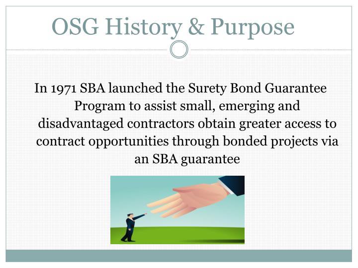 OSG History & Purpose