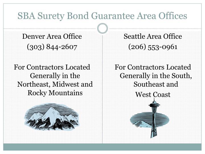 SBA Surety Bond Guarantee Area Offices